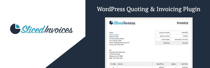 Sliced Invoices  WordPress Invoice Plugin //  A WordPress invoicing plugin for creating invoices and quotes. Online payments manage clients reports exports taxes & more. // #WordPress #plugins