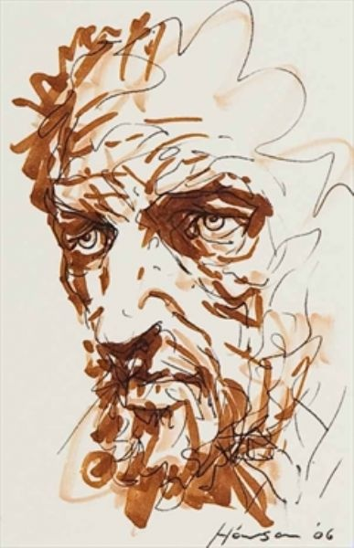 Peter Howson, i like the style of this drawing i think it is very unique