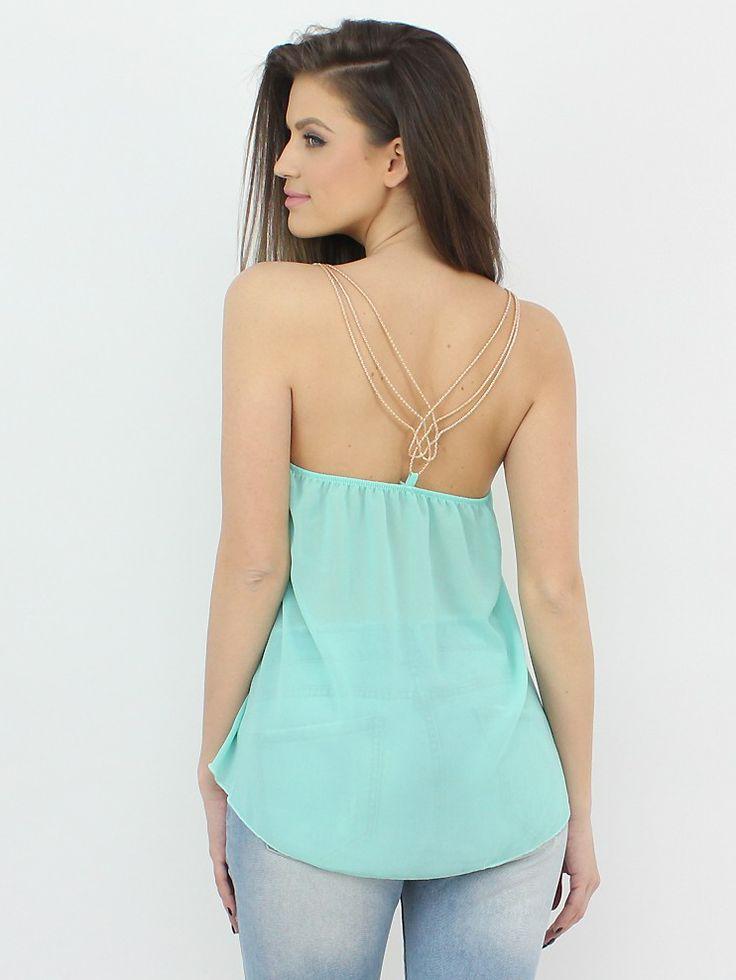 Fabulous Sleeveless Top with Golden Straps at www.famevogue.ro http://famevogue.ro/maieu_vaporos_bretele_aurii_970  #shopping #moda #haine #style #fashion
