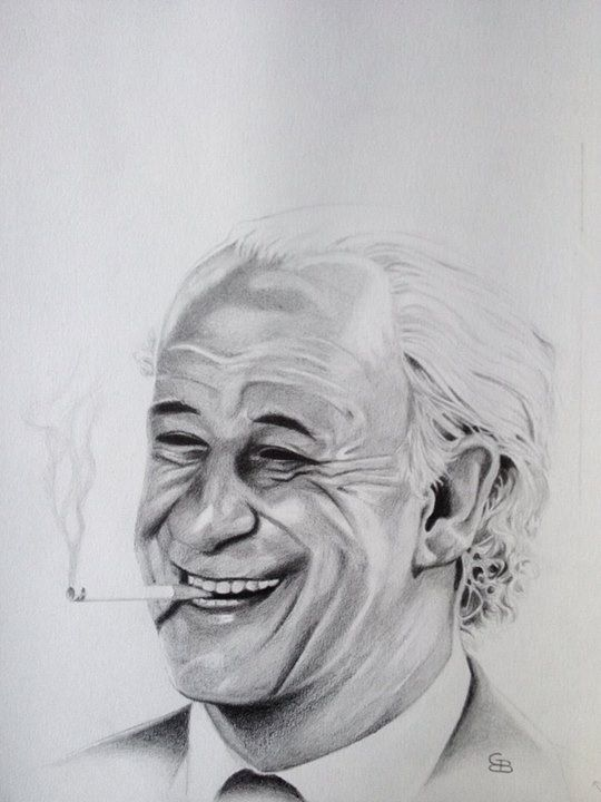 Jep 1, my first drawing of Jep Gambardella. The great main character in La Grande Bellezza.