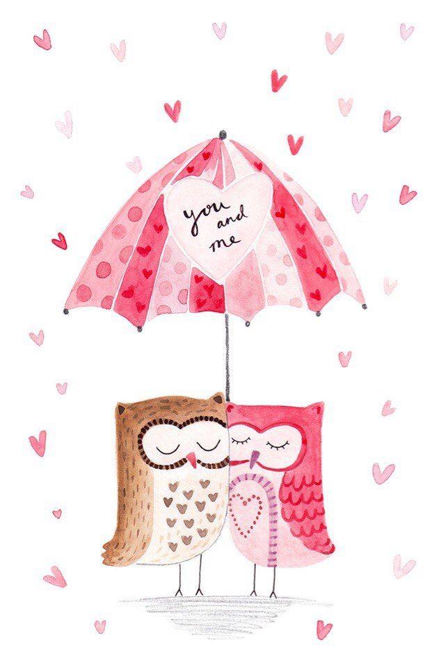 Подруге, открытки на день влюбленных акварель