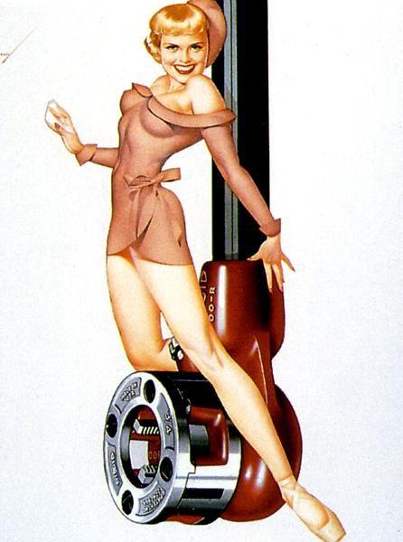 Pinup Girl & Ridge Tool | Tattoo Ideas & Inspiration - Pinups | The Petty Girls of Ridge Tool, 1953 Pin-Up Calendar
