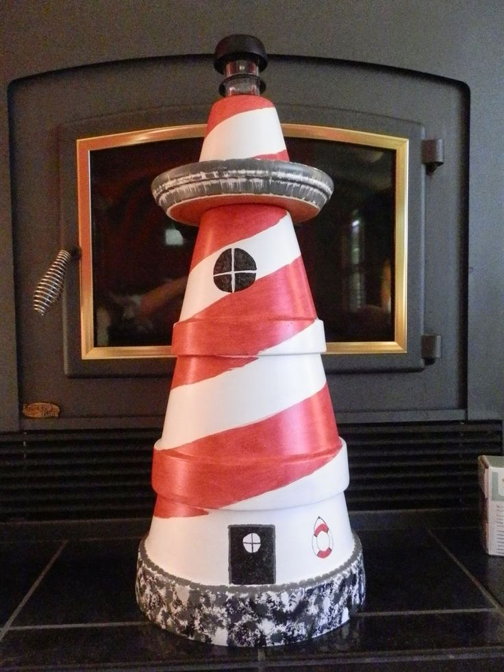 ... just type in clay pot lighthouse and you will see many ideas used clay