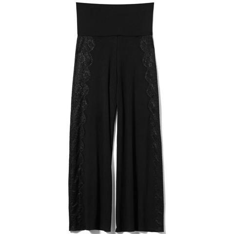 Black Gaucho Pants #AkikoOgawa. #Lingerie #2016AW #CASHMERE&COMFORT www.aolingerie.com