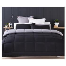 Kmart Reversible Grey Comforter Set - Single Bed