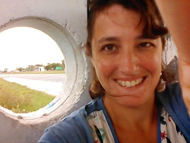 selfie: mi mundo: se ve la ruta y el pueblo de Mar de Cobo