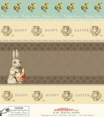 Printable Easter Gift Tags and digital paper - The Graphics Fairy
