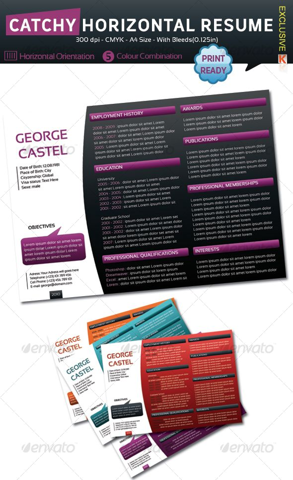 132 best Resumes that POP! images on Pinterest | Resume ideas ...
