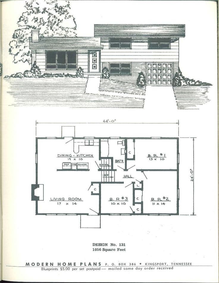 charming tennessee house plans #1: Modern home plans-1955, There are dozens in Plattsburgh NY with similar  layouts,