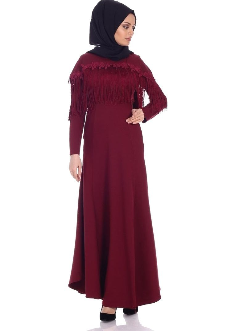 En Sik Ve Guzel Tesettur Dantelli Abiye Modelleri Moda Stilleri Elbise Modelleri Elbise