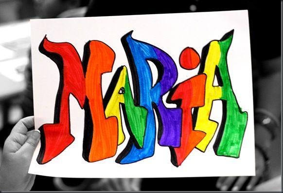 5th grade Hip Hop Names art project