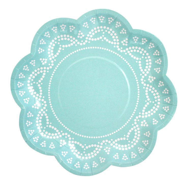 Lovely lace pastel blue party plates.