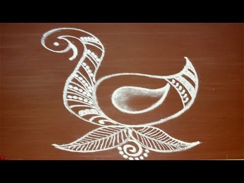 Special Freehand rangoli for diwali by meartist.in / Ontwerp voor festival en home decor - YouTube
