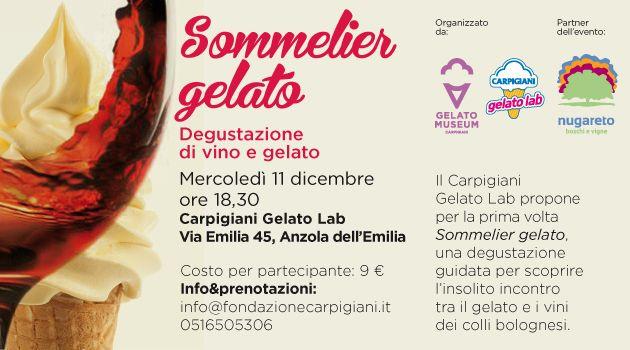 Sommelier Gelato - 11 dicembre 13, ore 18.30, Carpigiani Gelato Lab - PREPARATE LE PAPILLE, VI ASPETTIAMO NUMEROSI!