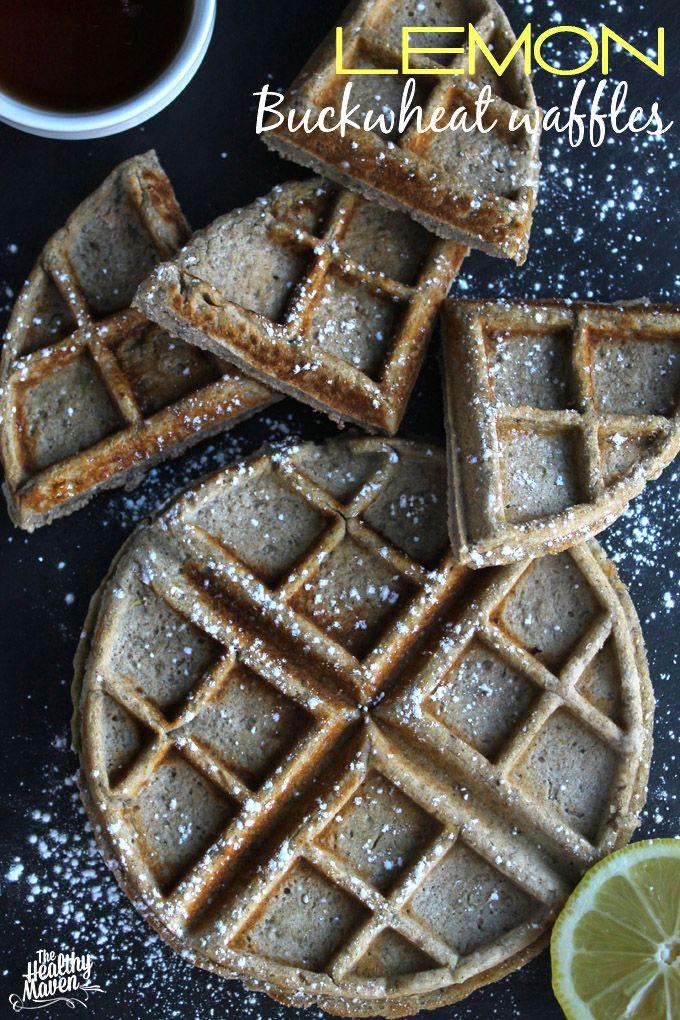 Lemon Buckwheat Waffles. A  gluten-free twist on waffles with a zesty lemon punch. P.S they're vegan too!