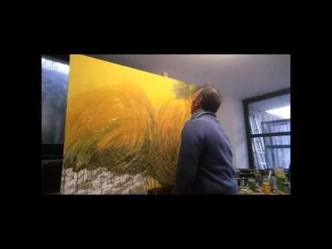 Realizzazione di un dipinto su tela