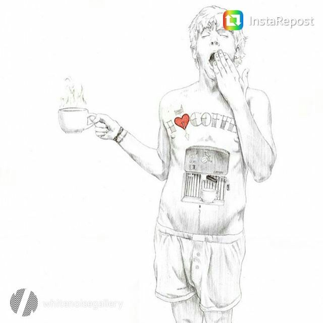 Javier Rubin Grassa - El Hombre Cafetera. It's time a cup of coffee! #art #contemporary #rome