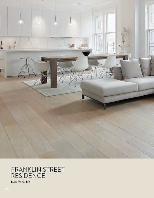 Siberian Floors Catalog: Russian white oak, fumed, prime grade, hardwax oil driftwood tint.