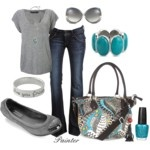 Brown & Navy Blue - Polyvore