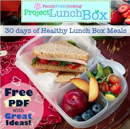 Free printable: 30 Days of Healthy Lunchbox Meals
