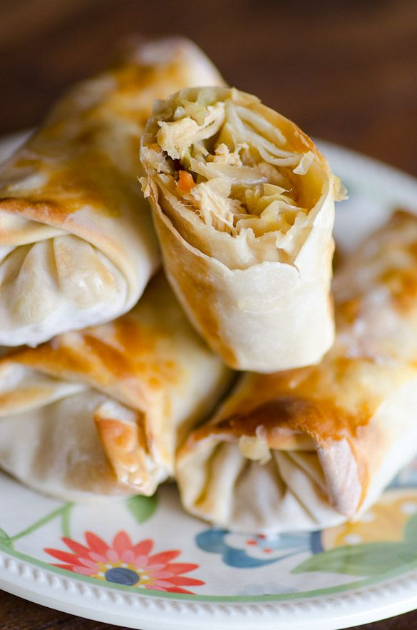 Easy Baked Chicken Egg Rolls by seededatthetable #Egg_Rolls #Chicken #Baked #Easy #Healthy