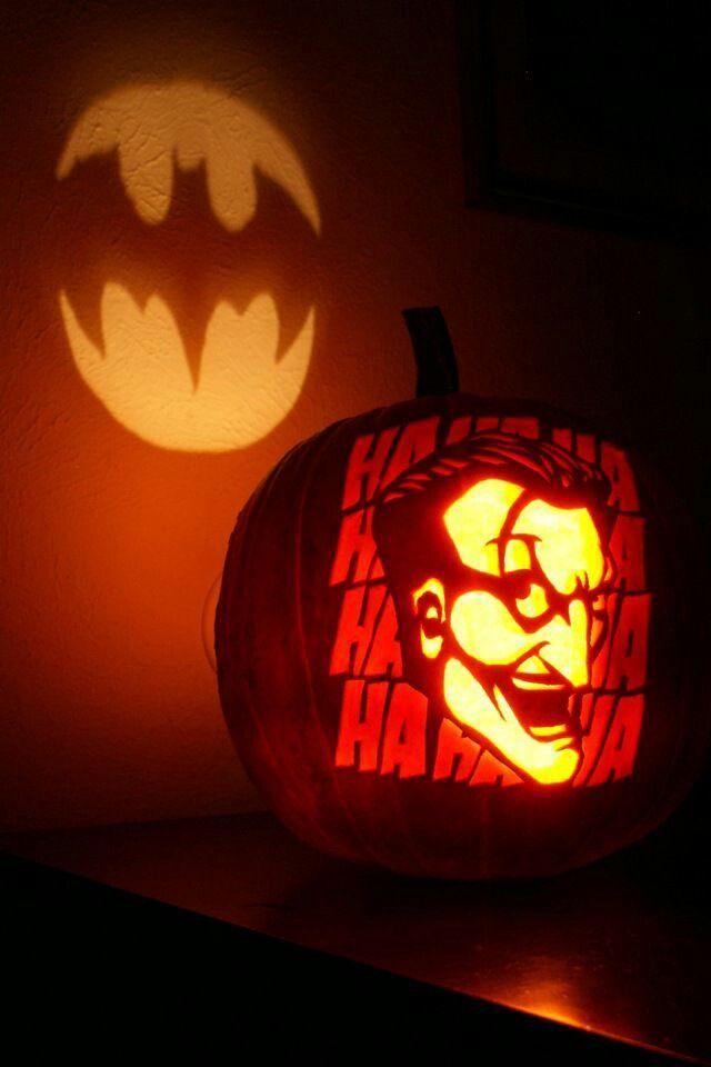 Batman Pumpkin - Bat Light + Joker