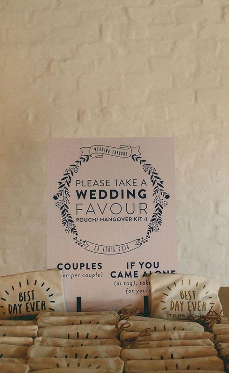 www.secretdiary.co.za   Wedding Favours   Tatum & Piero   Photo: Kikitography   #weddingfavour #gift #thankyougift #pouch #fabricpouch #hangoverkit