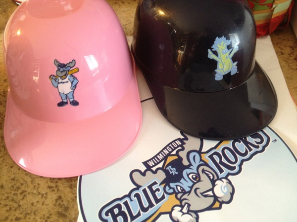 Wilmington Blue Rocks sundae helmets