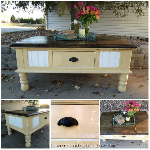 Pale Yellow Coffee Table – Wildflowers & Pistols