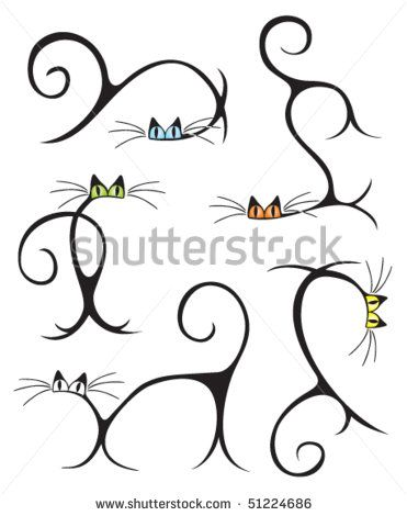 Stock Images similar to ID 250114204 - set of cartoon cats isolated on ...