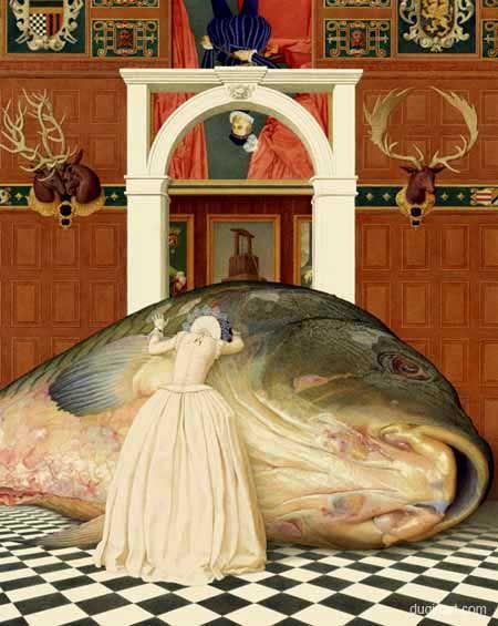 Andrej Dugin - Hamlet and Ophelia 38,4 X 48 cm, mixed media, paper