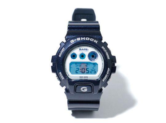 Bape x G-Shock DW-6900 'Blue Metallic'