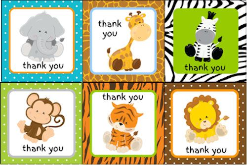 Custom Soap Jungle Zoo Safari Baby Shower Favors - 24 favors with custom labels…