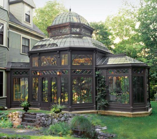 steampunktendencies:  A Gardener's Dream victorian conservatory   Via Victorian Houses