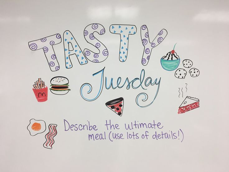 DONE~! Tasty Tuesday whiteboard journal prompt