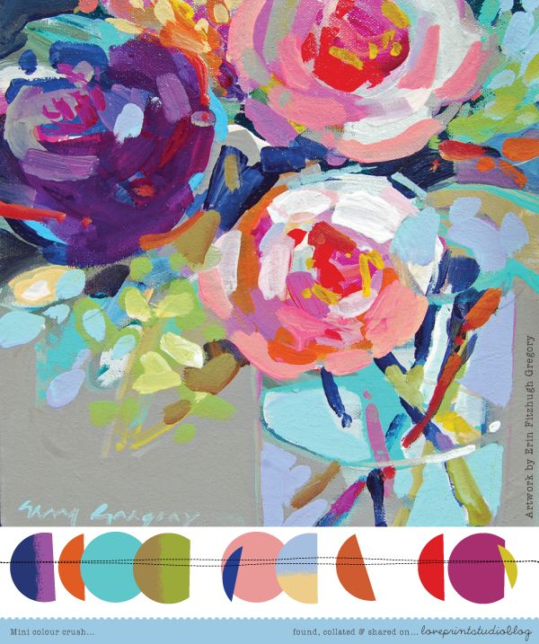 love print studio blog: Mini colour crush...featuring the beautiful work of Erin Fitzhugh Gregory