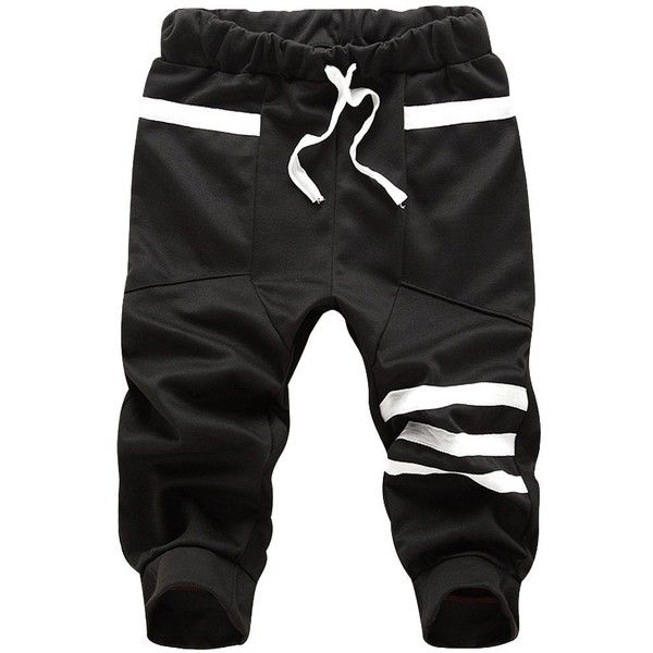 Mens Sport Athletic Baggy Gym Jogger Joggin Pants Shorts Trousers ($9.99) ❤ liked on Polyvore featuring mens, men's clothing, men's activewear and men's activewear pants