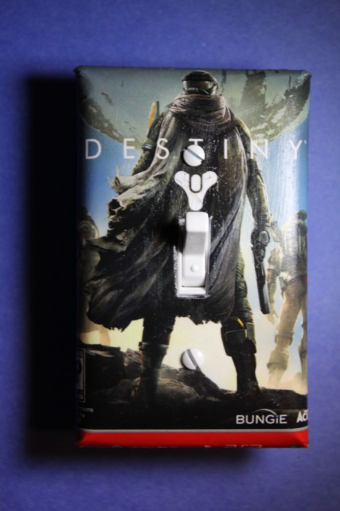 Destiny video game light switch cover gamer room home for Decoration xbox one