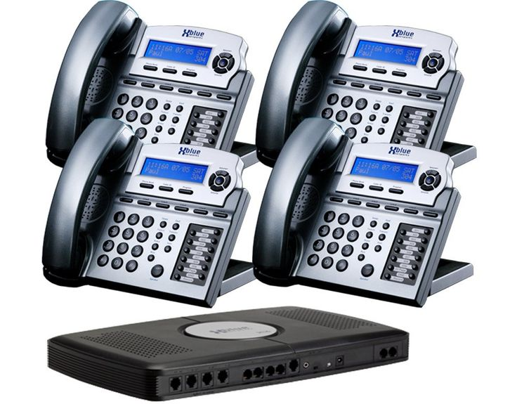 """X16 6-Line Small Office Phone System with 4 Titanium Metallic X16 Telephones - Auto Attendant, Voicemail, Caller ID, Paging & Intercom. Comes with four X16 Digital Speakerphones but is expandable up to 16 telephones. These are in the fashion color-Charcoal. Auto attendant answers and processes calls. Easy to install """"all in one"""" small office communications system that included the X16 voice server equipped for connection to 4 telephone lines but expandable to 6 telephone lines. Comes with..."""