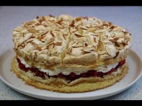 """Торт """"Небесный"""" (Himmelstorte) легкий, воздушный и очень вкусный - YouTube"""