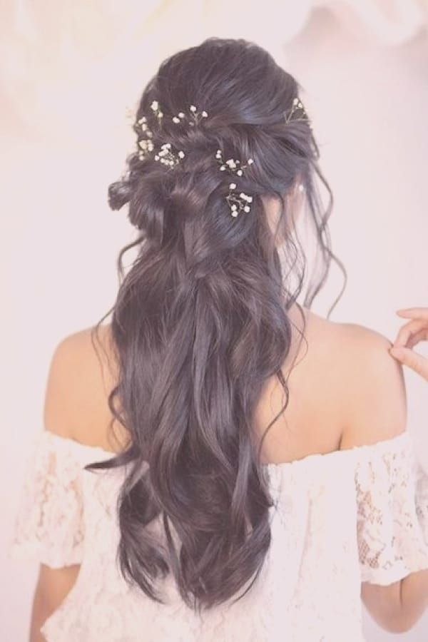 26++ Coiffure mariage long cheveux inspiration