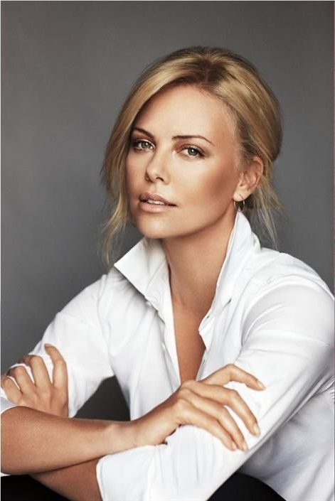 Charlize Theron - There is something inevitably very sexy about a woman in a white shirt