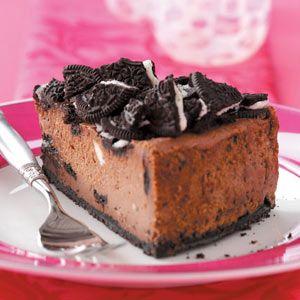 Chocolate Cookie Cheesecake Recipe | Taste of Home Recipes