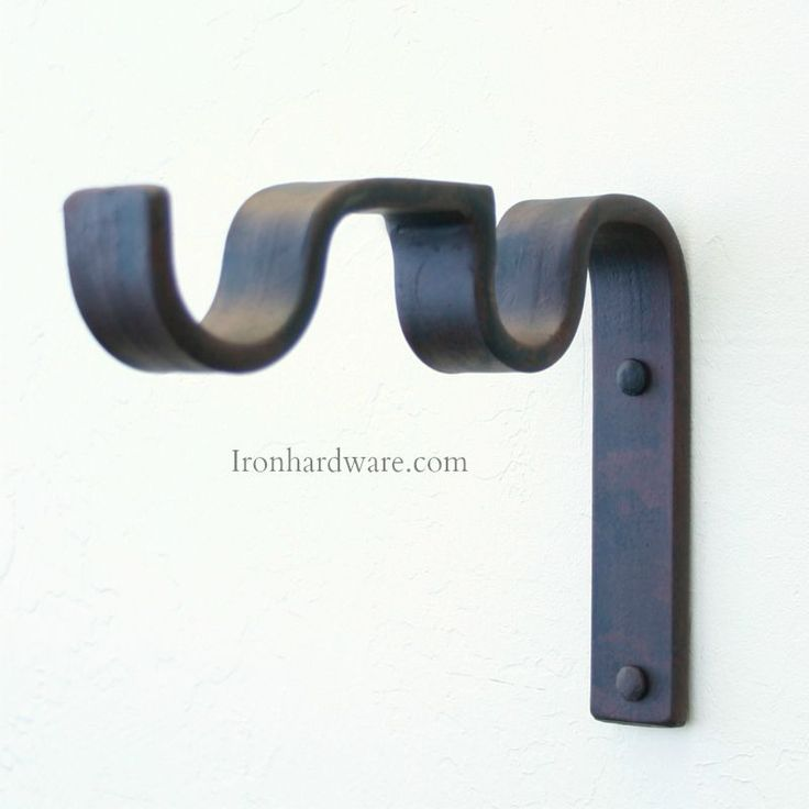Mounting Brackets for double curtain rods - Paso Robles Ironworks