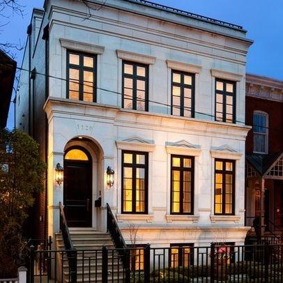 White house black window trim