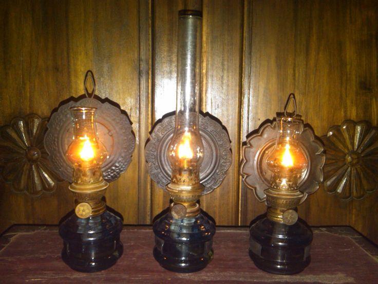Lampu: Antik Kinanthi  3pc Lampu Teplok Biru Bentoel