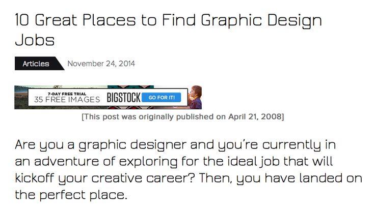 find graphic design jobs