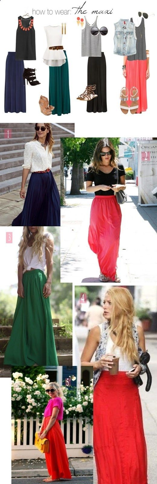 how to wear: the maxi skirt for summer  Outift for • teens • movies • girls • women •. summer • fall • spring • winter • outfit ideas • dates • parties Polyvore :) Catalina Christiano