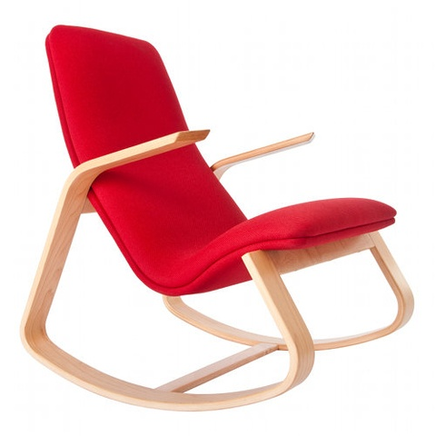 Based On Drawings First Done By Ralph Rapson In 1939 Rapson Rapid Rocker Is  Both A Comfortable And Modern Rocking Chair.