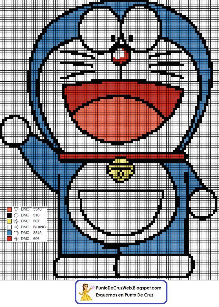 Doraemon Punto De Cruz www.puntodecruzweb.blogspot.com